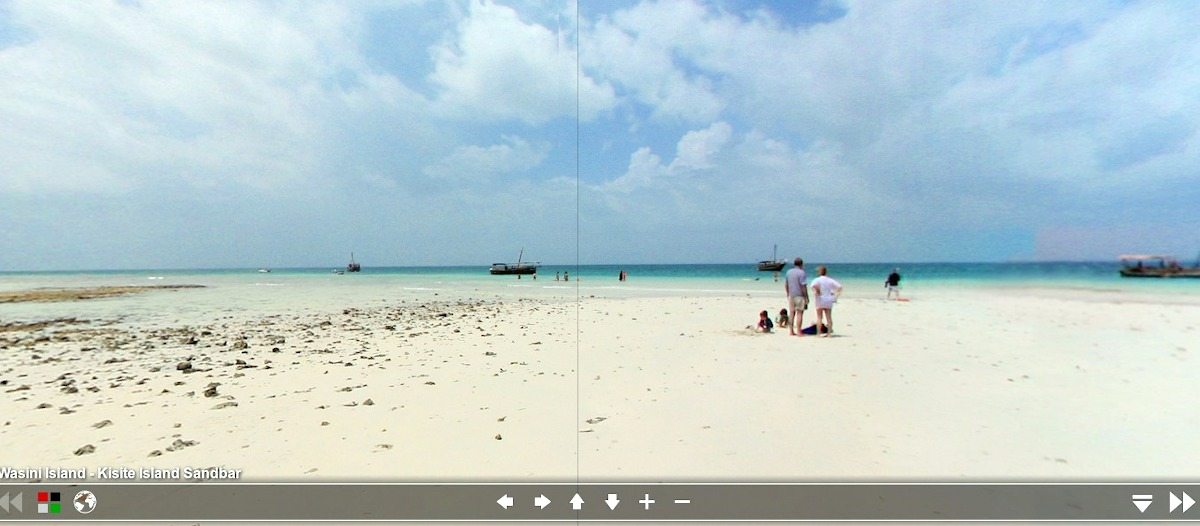 360 degree view of Wasini Island / Kisite Island Sandbar