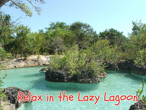 Lazy Lagoon pool on Wasini Island