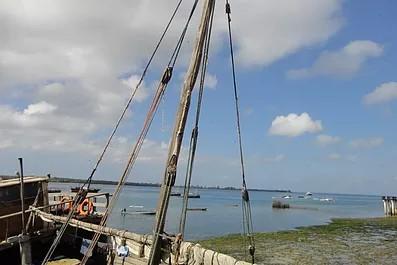 Shimoni village on the Indian Ocean